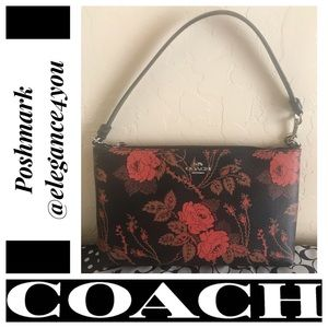✨COACH✨Authentic Rose&Thorn Lrg Wristlet/Clutch